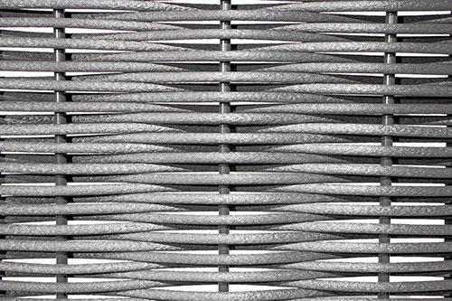 текстура одинарного плетения из полимерной лозы