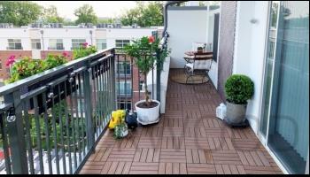 Садовый паркет DeckWOOD на балконе