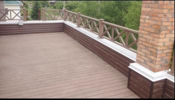 Терраса на крыше с использование террасной доски DeckWOOD Standart