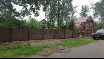 Забор из полимерной лозы DeckWOOD в Санкт-Петербурге