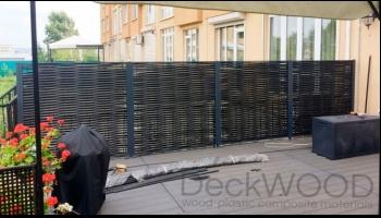 Плетеные ограждения в Кемерово терраса возле танхауса