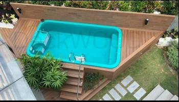 ДПК от DeckWood для облицовки зоны у бассейна